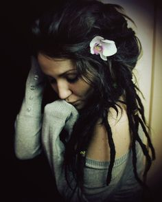 soft dreads, I could never pull this off but I like the look!