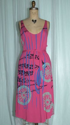 Pink Bamboo Cotton Tank Dress by betterthanjam on Etsy, $80.00