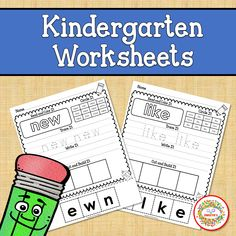 Students will learn the Dolch Kindergarten Sight Words with this set of worksheets. Each worksheet has 5 activities. Read and color the word Circle the… Sight Word Worksheets, Sight Word Activities, First Grade Sight Words, Second Grade, Kindergarten Blogs, Kindergarten Reading, School Reviews, Learn To Spell, Learning Resources