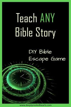 This escape game helps the players to have a deeper understanding of both familiar and unfamiliar Bible stories. This Bible Escape Game is adaptive to almost ANY Bible story. It always keeps players interested and digging for more information. Perfect for Sunday School Lessons, Lessons For Kids, Bible Lessons, Object Lessons, Youth Group Activities, Youth Groups, Bible Activities, Bible Resources, Bible Games