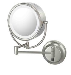 Hardwire Double-Sided LED Lighted Wall Mirror, comes in chrome, brushed nickel, polished nickel, brushed brass, italian bronze