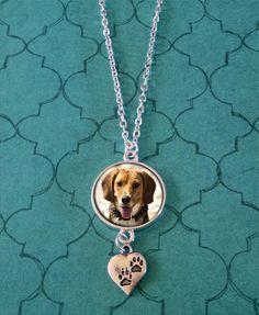 Pet photo jewelry necklace