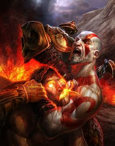 Artwork by Izzy from the God of War III show.  http://gnomongallery.com/shows/2010/god-of-war-3/index.php