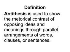 Antithesis Examples In Literature