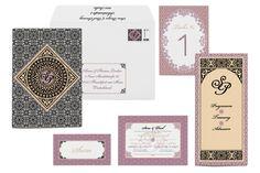 Hochzeitskarten mit orientalischen Ornamenten | Design: Paper & Soul