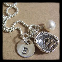 Softball necklace for Shelby