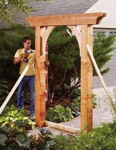 DIY Arbor from Fresh Home Ideas  I so want two of these then connect them and drape flower or vines over them!!!!