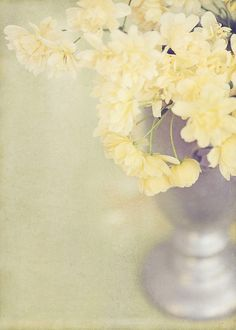 Pale Yellow Flowers-accessory for the bedroom