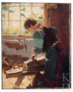 Walter Castle Keith Klompenmaker te Heeze, vermoedelijk 1907 Oirschot, Brabantse Kunstgalerij #NoordBrabant #Kempen