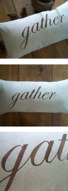 gather pillow - fall home decor - cushion - harvest - thanksgiving - autumn - holiday - natural - jennifer helene home- rustic decor #affiliatelink