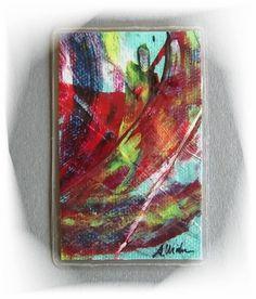 Acrylmalerei - Taschenkunst 5 handgemalt Kunstgalerie Winkler Neu - ein Designerstück von Kunstgalerie-Winkler bei DaWanda
