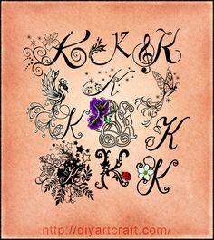 lettering #K #typography Letter C Tattoo, Tattoo Name Fonts, Tattoo L, Name Tattoos, Letter Art, Body Art Tattoos, Doodle Lettering, Hand Lettering, Alfabeto Tattoo