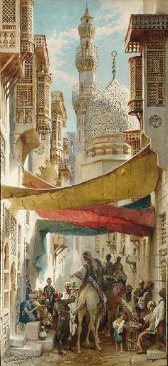 A Street in Damascus; A Street in Cairo, a pair by CARL HAAG - Peter Nahum At The Leicester Galleries