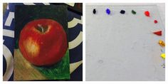 Art class: Painting with Egg tempera
