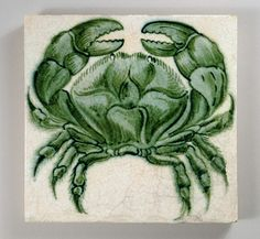 William De Morgan 'Crab'  tile