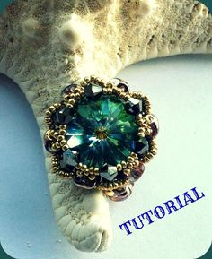 Barocco ring pattern. How to make swarovski and by 75marghe75, $8.00