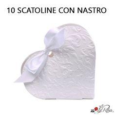 scatolina portaconfetti cuore bianco per matrimonio