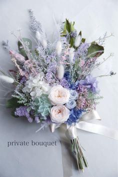 Dusty Blue Weddings, Flower Bouquet Wedding, Floral Wreath, Wreaths, Bridal, Swag, Floral Arrangements, Flowers, Floral Crown