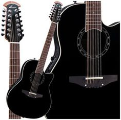 Ovation 12-String Balladeer.  Black. That is all.