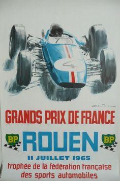 Affiche+originale+Rouen+grands+prix+de+France+1965+-+Michel+BELIGOND
