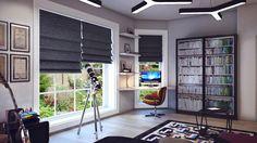 Jugendzimmer Beispiele - Idee mit Schreibtisch am Eckfenster