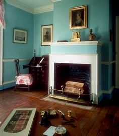 Love this color-- and this is inside Thomas Jefferson's Monticello home.
