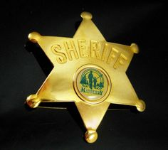 Who doesnt remember Andy of Mayberry....? A part of most adults past,this neat sheriff star has the Mayberry silhouette of Andy and Opie fishing. And…