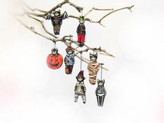 Your place to buy and sell all things handmade Halloween Christmas Tree, Halloween Party Decor, Christmas Tree Ornaments, Cat Lover Gifts, Cat Gifts, Crazy Cat Lady, Crazy Cats, Ceramic Clay, Lovers