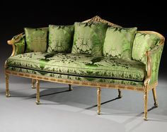 A RARE GEORGE III PERIOD GILTWOOD SOFA by MAYHEW AND INCE : The British Antique Dealers' Association