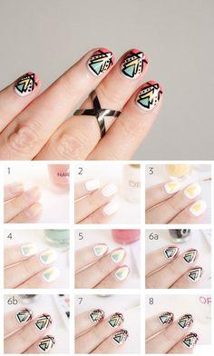 Aztec #manicures #beautyhacks
