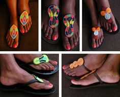 Street Style Tip Of The Day- African Prints And Beaded Slippers