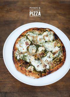 Pizza de patata y queso de cabra >> Potato & Goat Cheese Pizza