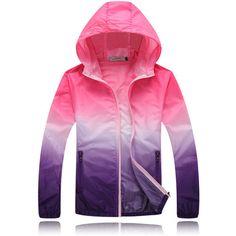 2016 Summer Sunscreen Coat Sport Jacket Unisex Outdoor Windbreaker Waterproof Thin Hooded Zipper Quick Drying Outwear YN694