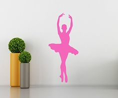 """$21.99 Ballet Wall Decal - Girls Kids Room Décor - Nursery Wall Decal - Bailarina Wall Décor - Dancer Wall Decal - Perfect for a Gift (18""""W X 41""""H) Sunrise Shop Group http://www.amazon.com/dp/B0160J1UEE/ref=cm_sw_r_pi_dp_Wjd.wb1BXNX8F"""