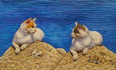 Grecian Cats by Sonia Prchal. Quilt Symposium Manawatu, 2015 (New Zealand)  | Martha Wolfe