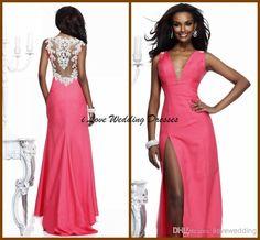 Wholesale Sheer Prom Dress - Buy 2014 New Arrival Tarik Ediz Dresses Prom Long Sweep Tain Deep V Neck Sheer Party Gowns Lace Appliques Taffeta Formal Evening Dress Zip YP-70, $125.0 | DHgate
