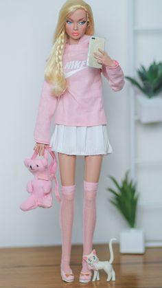Sewing Barbie Clothes, Barbie Dolls Diy, Barbie Fashionista Dolls, Barbie Und Ken, Barbie Model, Barbie Wedding Dress, Barbie Dress, Pink Barbie, Fashion Royalty Dolls