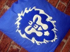 World of warcraft lion flag blue human video game pillow cushion gift