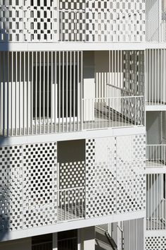 Image 10 of 33 from gallery of Rue Camille Claudel / Hamonic+Masson & Associés. Photograph by Takuji Shimmura Architecture Today, Architecture Magazines, Chinese Architecture, Futuristic Architecture, Facade Architecture, Residential Architecture, Contemporary Architecture, Camille Claudel, Railing Design