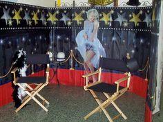 Beau décor pour un photobooth sur le thème du cinéma