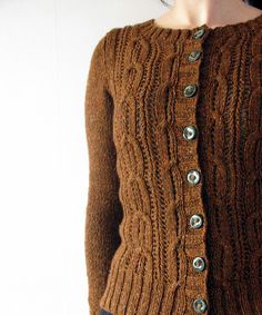 I dream of one day having the attention span to make something like this... Acer cardigan with lovely full buttons