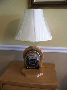 Vintage Steampunk Westinghouse Electric Meter Table Lamp New Base And Fixture