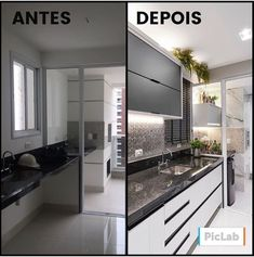 Amazing transformation over here! Cold neutral kitchen, wonderful, right? - Design Cointrend News Kitchen Interior, Interior Design Living Room, Kitchen Decor, Interior Decorating, Neutral Kitchen, Interior Design Boards, Building A New Home, Home Staging, Kitchen Furniture