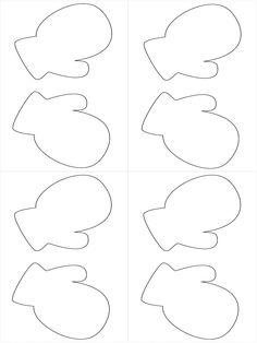 Mitten Template For Writing Paper Garland Mitten Template
