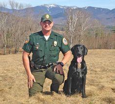NHFG: Conservation Officer Robert Mancini with K9 Ruger