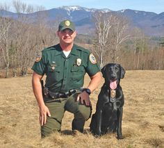 NHFG: Conservation Officer Robert Mancini with K9 Ruger