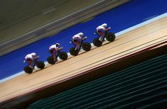 Team GB practice their team pursuit formation (Getty Images Sport)