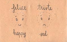 Italian Language ~ Felice, triste (Happy/Sad) aggettivi