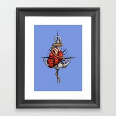 Love and Sea (anchor with heart and compass) by #Beatrizxe   #Society6 #Framed #Art #Print Illustration of a heart pierced by an anchor and surrounded by a rope. The background is a compass or windrose. It has a maritime theme, due to It shows a love for the sea and everything it contains.#ocean #sea #tattoo #navy #ship #sailor #nautical #anchor #beach #sailing #boat #oldschool #waves #tide #heart #love #rope #compass #windrose #ink #travel #journey #voyage #illustration #draw #drawing #art