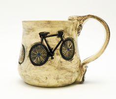 Ceramic Bicycle Mug